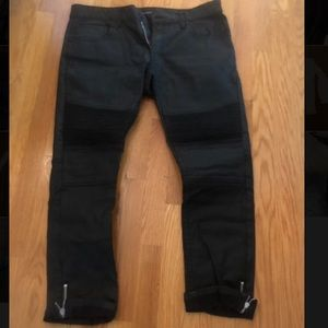 INC. Worn Once Black Jeans with Zipper Bottom